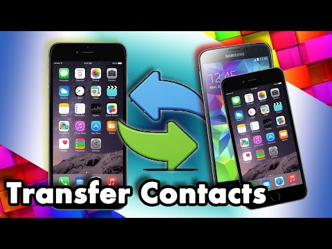 How to transfer contacts from one phone to another iphone without icloud
