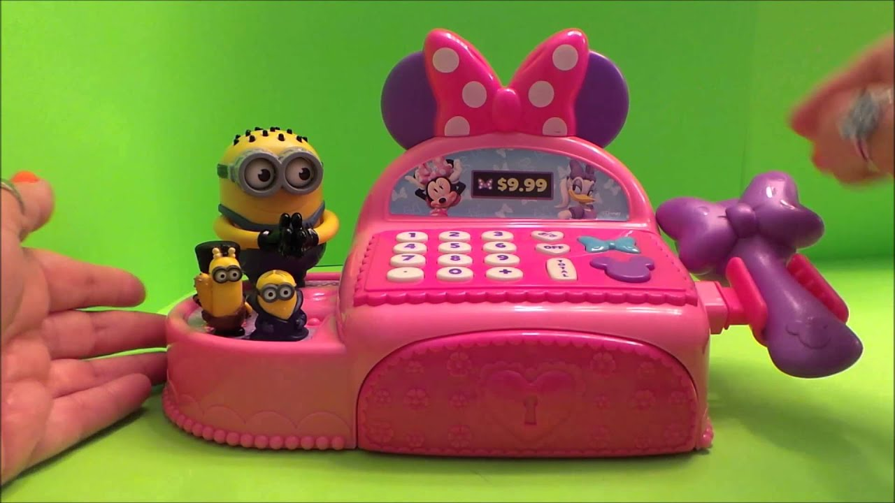 Worlds Best Deluxe Minnie Mouse Bowtique Pink Toy Cash Register