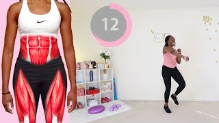 HOME WORKOUT - BELLY FAT & THIGH FAT TABATA ? - Koboko Fitness
