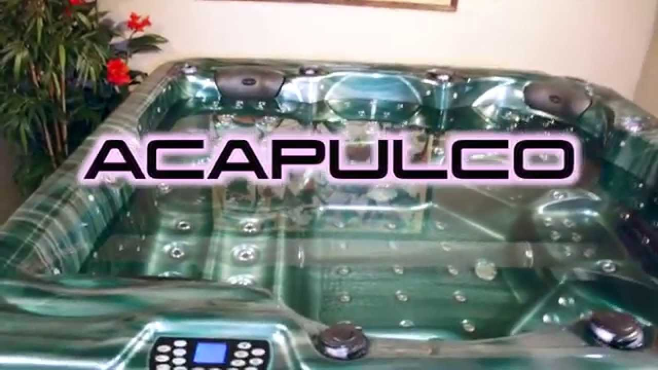 acapulco tropicspa le spa jacuzzi 6 places youtube. Black Bedroom Furniture Sets. Home Design Ideas