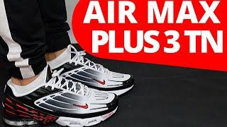 Nike TN AIR MAX PLUS 3 Black/White/University Red On Foot