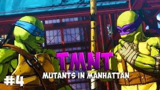 Черепашки-Ниндзя: Мутанты в Манхэттене. Прохождение #4 (TMNT: Mutants in Manhattan Gameplay 2016)