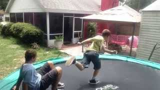 Trampoline Flips and Stunts (Part 1)