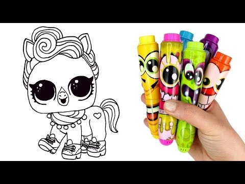 How To Draw LOL Pet The Pony | LOL Surprise Pets Series 4 Gold Opening Drawing And Coloring For Kids