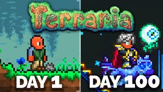I spent 100 Days in Terraria Master Mode...