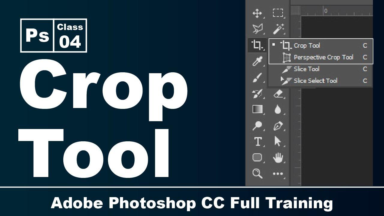 Adobe Photoshop CC   Crop Tool   Class 4 Pashto