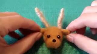 基本のフェルトボールから出来る 簡単なトナカイの作り方を動画にしまし...