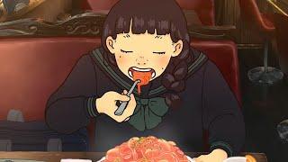 ひたすらスパゲッティを食べるループアニメ
