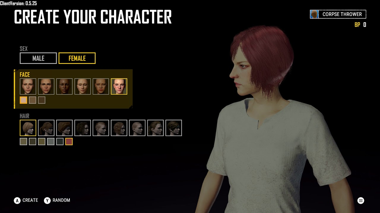 Pubg Create: Create Your Character: Female: Six Different Face