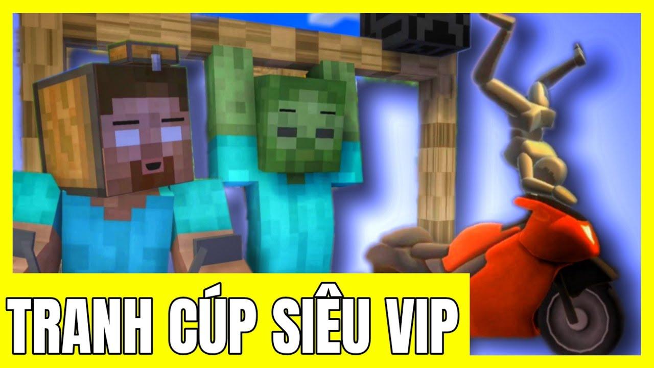 [ Lớp Học Quái Vật GAME ] CẢ LỚP ĐUA XE TRANH CÚP SIÊU VIP | Minecraft Animation