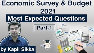 Economic Survey and Union Budget 2021 - Most Expected Questions Set 1 for UPSC, SSC, Bank exams