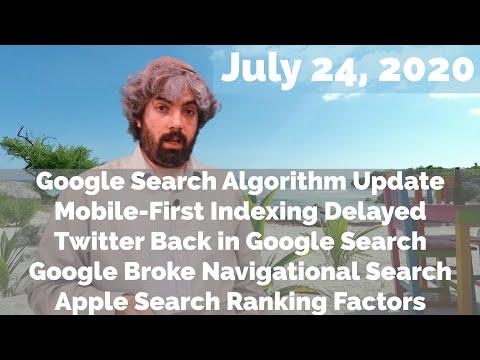 Google Algorithm Update, Mobile-1st Indexing, Twitter Is Back, Google Breaks & Apple Ranking Factors