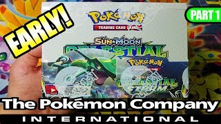 EARLY CELESTIAL STORM BOOSTER BOX OPENING FROM THE POKEMON COMPANY INTERNATIONAL! PART 1