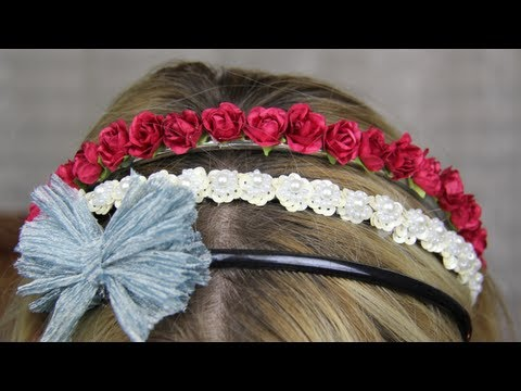 c248288b16c4 ♡ Three Quick   Easy DIY Headbands ♡ - YouTube