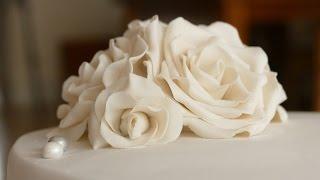 Rosen aus Blütenpaste I Gumpaste Rose Tutorial I Deko für Motivtorten I Hochzeitstorten