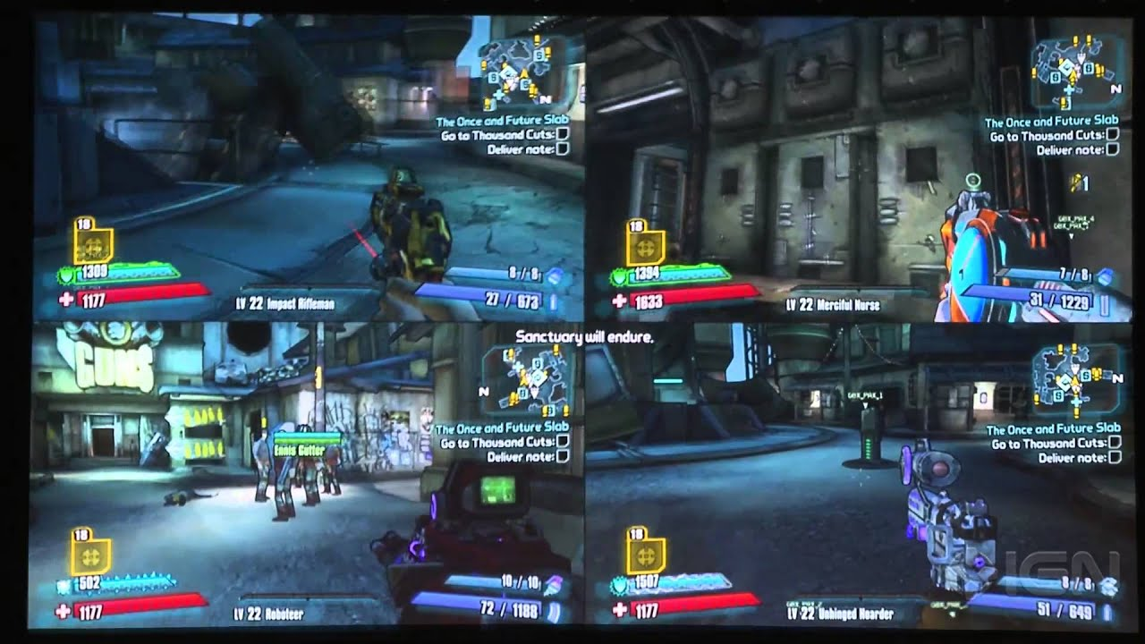 Borderlands 4 player split screen gameplay from the for Couch koop ps4
