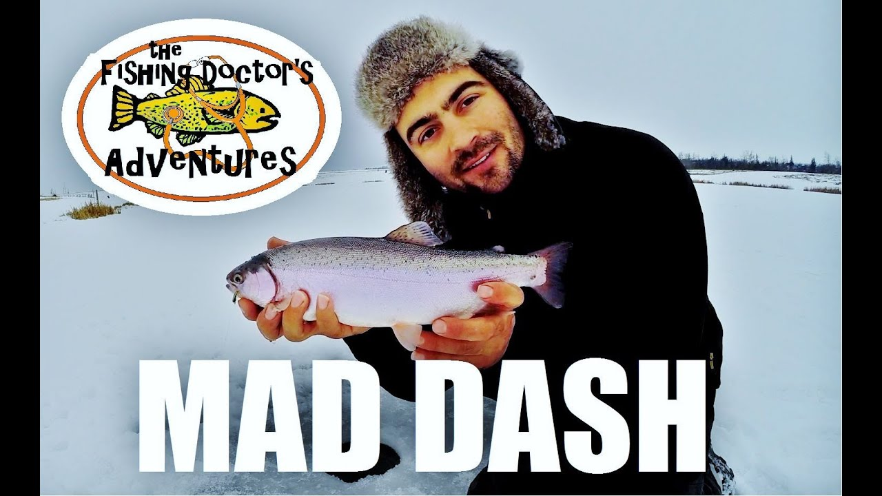 Jaw jacker mad dash rainbow trout fishing youtube for Jaw jacker ice fishing