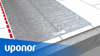 Uponor Comfort E - Installatie van aluminiumfolie
