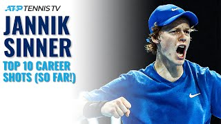 Top 10 Jannik Sinner ATP Shots (So Far!)