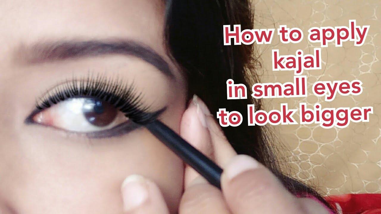 How to apply kajal in different ways/काजल से कैसे small eyes को बड़ी  दीखाये/makeup for love n desire