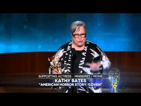Kathy Bates wins an Emmy for American Horror Story 2014
