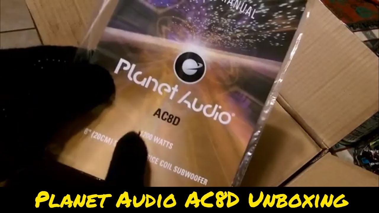 hight resolution of planet audio ac8d 1200 watt subwoofer unboxing first look