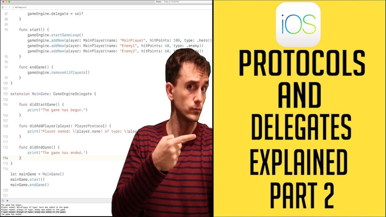 Ios swift basics tutorial: protocols and delegates youtube.