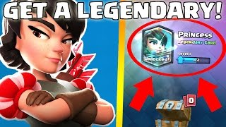 HOW TO GET A LEGENDARY CARD! - Clash Royale - Best Way To Get A Legendary Card!