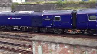 FGW HST Class 43 HST 2 Car Unit Leaving Plymouth Train Station! 43024 & 43187