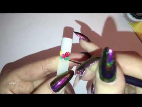 Nail Art Tulipani In Gel Amber Nails