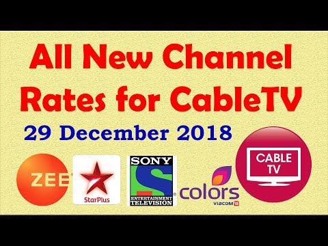 All new Channel Rates for Cable TV from 29 December - ZEE Sony Star Colors | Som Tips