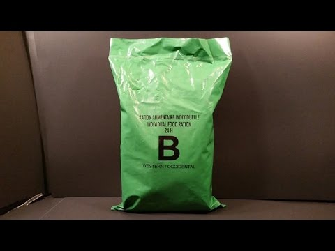 2015 UN Individual Food Ration MRE Review Western United Nations Combat Meal Ready To Eat Tasting