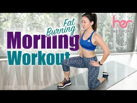 beginner-fat-burning-morning-workout-(burn-300cals-in-15-mins!)-|-joanna-soh