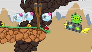 Bad Piggies - SANTA PIG PICK THE CRATE WHILE ANGRY BIRDS SLEEPING!