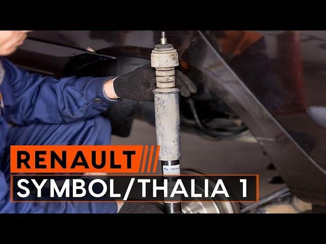 Kuinka vaihtaa iskunvaimentimet RENAULT SYMBOL/THALIA 1 -merkkiseen autoon [OHJEVIDEO AUTODOC]