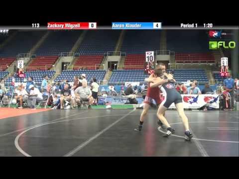 Cadet 113 - Zackary Wigzell (Hawaii) vs. Aaron Klauder (Washington)