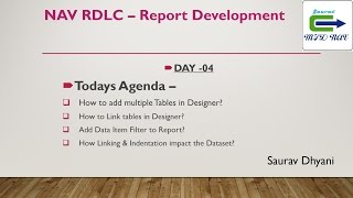 Day 04 - How To Develop  RDLC Report in Microsoft Dynamics NAV -  Link Multiple Tables.