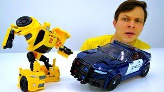 Игры #Трансформеры Битва РОБОТОВ! Баррикейд атакует #Автоботы 🚗 Видео #ПроМашинки для мальчиков