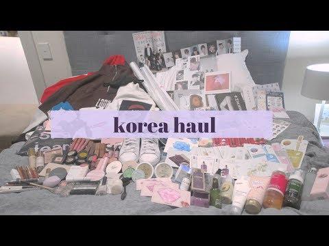 HUGE KOREA HAUL! (kpop, kbeauty, kfashion, stationery etc.) || penny tao