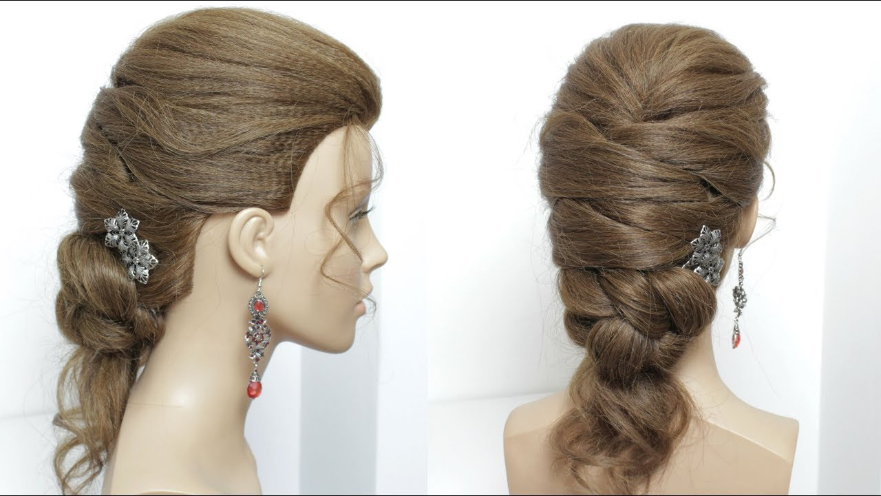 Prom Wedding Hairstyle For Long Length Hair - YouTube