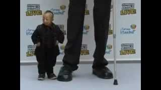 Самый высокий и самый маленький человек в мире