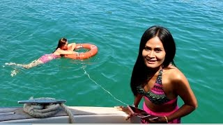 PATTAYA, NIRVANA CATAMARAN BOAT TRIP, OCEAN MARINA JOMTIEN Vlog-099
