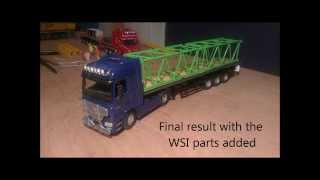 1:50 NZG Mercedes Benz Actros customizing with WSI parts