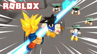 COMBATES WITH A ROBLOX DRAGON BALL CREATOR!!! In Spanish