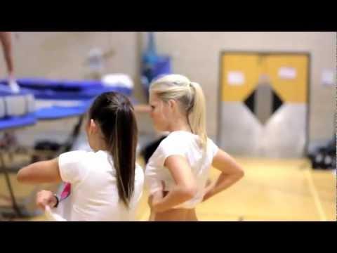 The Worlds Best JobTopless Women Trampoline Coach