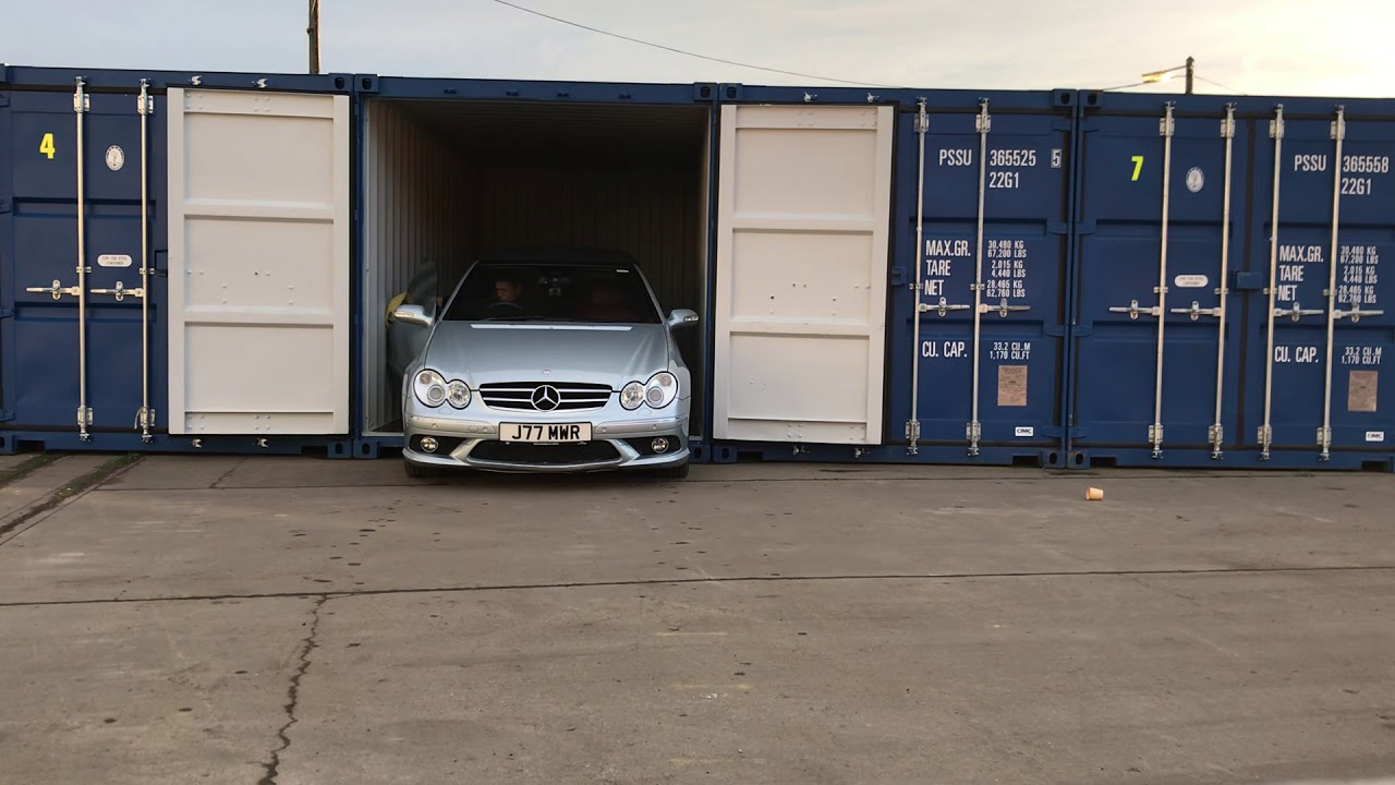 Shipping Container Car Storage - YouTube
