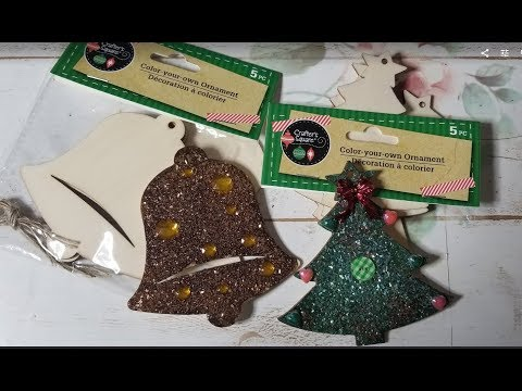 DIY Dollar Tree Altared Wood Ornaments-Perfect Craft Fair/Gifts/Stocking Stuffers