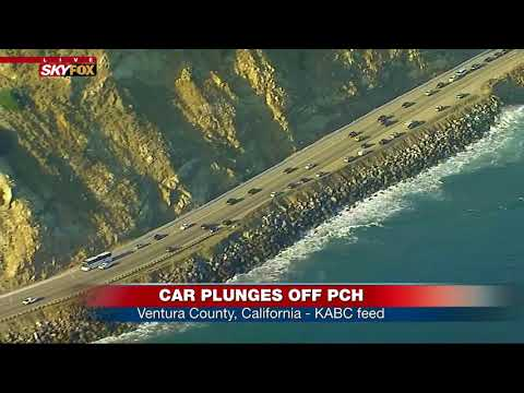 BREAKING: Car plunges off Pacific Coast Highway in Ventura County, CA (FNN)