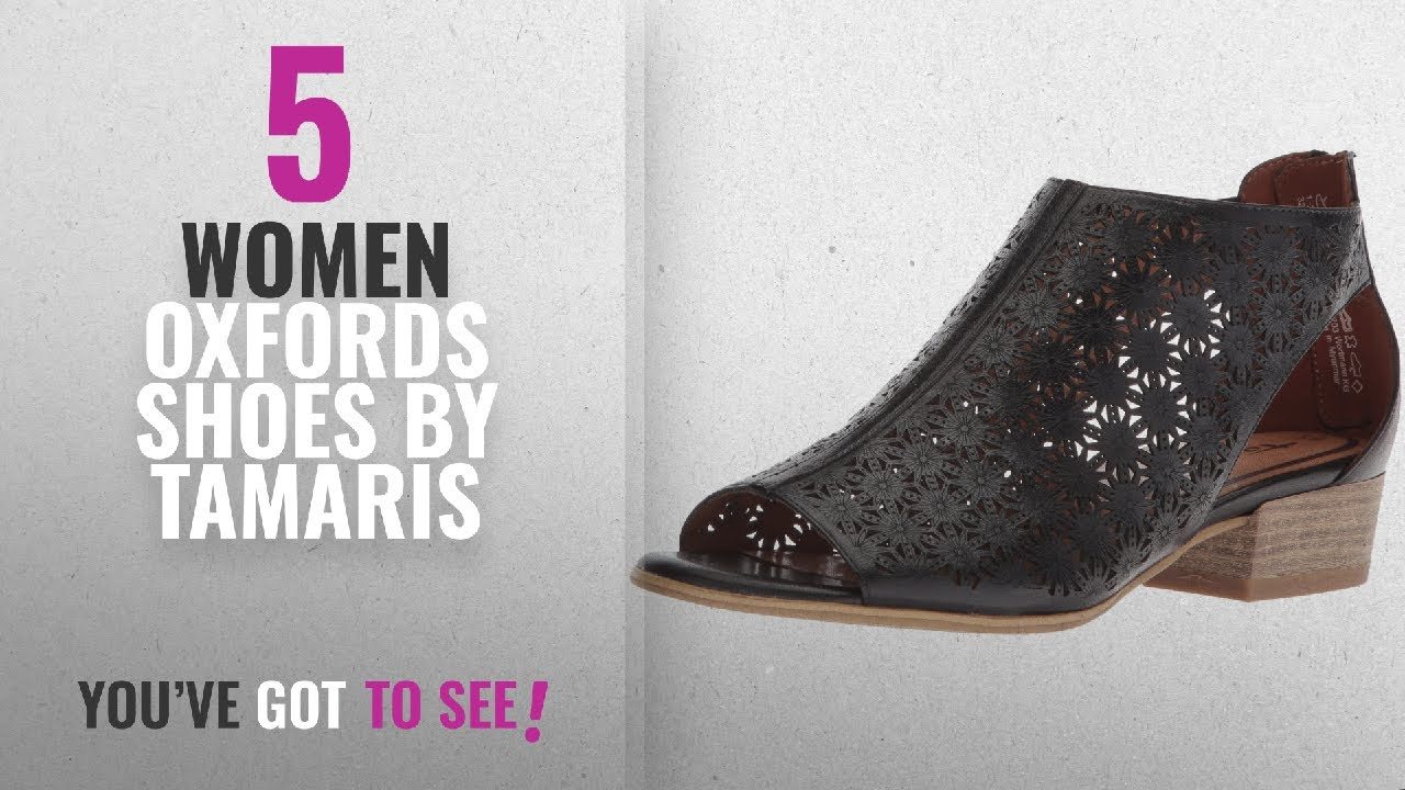 670c3f5a Top 5 Tamaris Women Oxfords Shoes [2018]: Tamaris Women's Nao 28140 Oxford  Flat, Black, 38 Medium EU