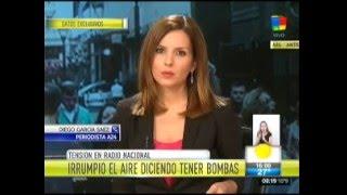 Amenaza de bomba al aire en Radio Nacional